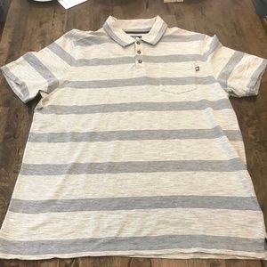 The North Face Gray Striped Polo Shirt L
